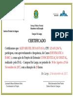 Modelo Certificado - EXTENSÃO
