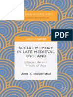 (the New Middle Ages) Joel T. Rosenthal (Auth.)- Social Memory in Late Medieval England_ Village Life and Proofs of Age-Palgrave Macmillan (2018)