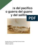 Guerra Del Pacifico o Guerra Del Guano y Del Salitre