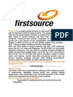 Firstsource-Training and Development