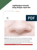 15 Cara menghilangkan komedo hitam di hidung dengan cepat dan alami.doc