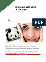 Cara menghilangkan mata panda secara alami dan cepat.doc