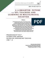 Proceedings ISELT 2016 Volume 2