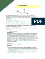 Ácido cianoacético
