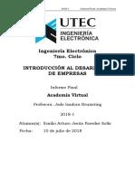 Introducción al desarrollo de empresas UTEC 2018-I