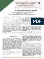 Segmentation of Front Viewed Single Phase Diamond
