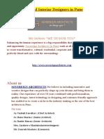 Architect and Interior Design in Pune