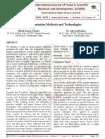Data Imputation Methods and Technologies