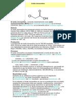 acido cloro acetico