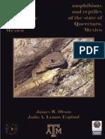 Anfibios y reptiles del Estado de Querétaro
