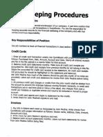 Bookkeeping Procudures