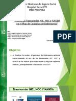 Capacitación Taxonomías NIC, NOC y NANDA
