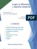 Prezentare Egalitate de Gen Si Diferente Culturale in Japonia Moderna