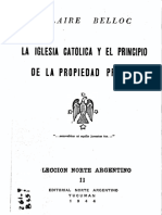 La Iglesia católica y el principio de la propiedad privada - Hilaire Belloc.pdf