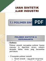 bahan sintetik dalam industri