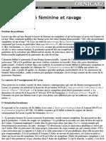 Agnés Aflalo - Homo-sexualité féminine et ravage