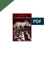 Petras J La Lengua Del Pueblo
