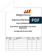 GG ANG WP 00 0011 W02 Electrical Instrument Isolation Practices