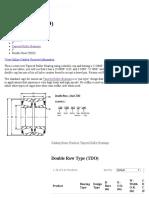Double Row Tapered Bearing - TDO Bearings _ American Roller Bearing