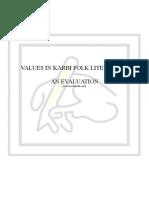 Values in Karbi Folk Literature [www.writekraft.com]