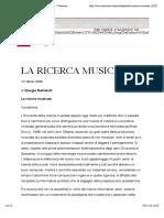 BATTISTELLI La Ricerca Musicale
