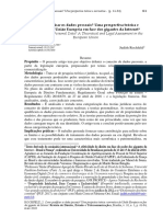 Como qualificar os dados pessoais? Uma perspectiva teórica e normativa da União Europeia em face dos gigantes da Internet