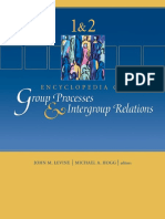 Encyclopedia of Group Processes & Intergroup Relations