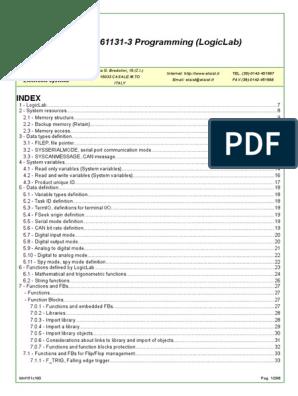 IEC 61131-3 Programming (LogicLab) pdf | Input/Output | Computer Program