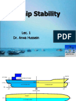 Ship Stability Lecture 1