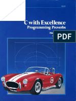 C With Excellence Programming Proverbs - Tauer