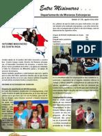Boletin 176 Informe Misionero de Costarica - Agosto 10 2010
