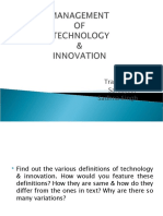 Introduction to Innovation & Technology
