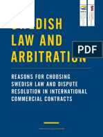 Swedish Law and Arbitration