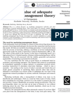 The Need for Marketing Management Theory