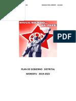 Plan de Gobierno Municipal Monsefu 2018- Partido Aprista Peruano- Manuel Pisfil