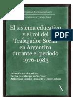 El sistema educativo y el rol del Trabajador Social en Argentina durante el período 1976-1983