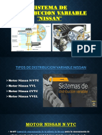 SISTEMA DE DISTRIBUCION VARIABLE ¨NISSAN¨