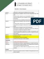 Calendario  Académico 2018-2019