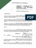 Res. 1.002-2011 Establece Organización y Atribuciones de Las Contralorías Regionales y Deja Sin Efecto Resoluciones Que Indica