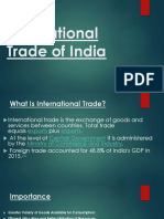 International Trade of India