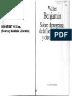 BENJAMIN - Franz Kafka. en El Décimo Aniversario de Su Muerte