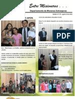Boletin 177 Informe Misionero de Japon Agosto 16 2010