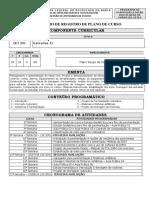 Plano de Curso CET291_2018_1