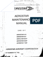 Aerostar Maintenance Manual Chapters 4 to 20