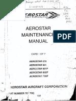 Aerostar Maintenance Manual Chapters 4 to 20