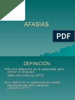 12. AFASIA, DEFINICION Y GENERALIDADES (1).ppt