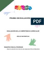 08Udicom Evaluación de La Competencia Curricular Área de Matemáticas