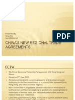 China's New Regional Trade Agreements