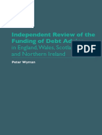 Peter Wyman Review of Debt Advice Funding 2018