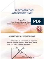 angle between two intersecting lines